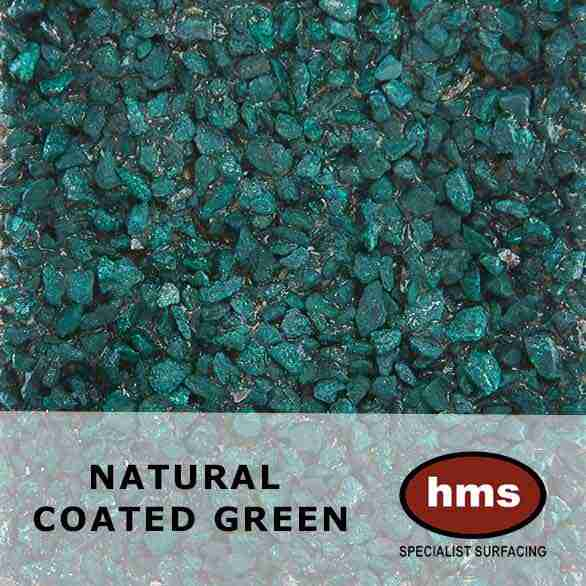 Natural Coated Green - Resin Bonded Sample