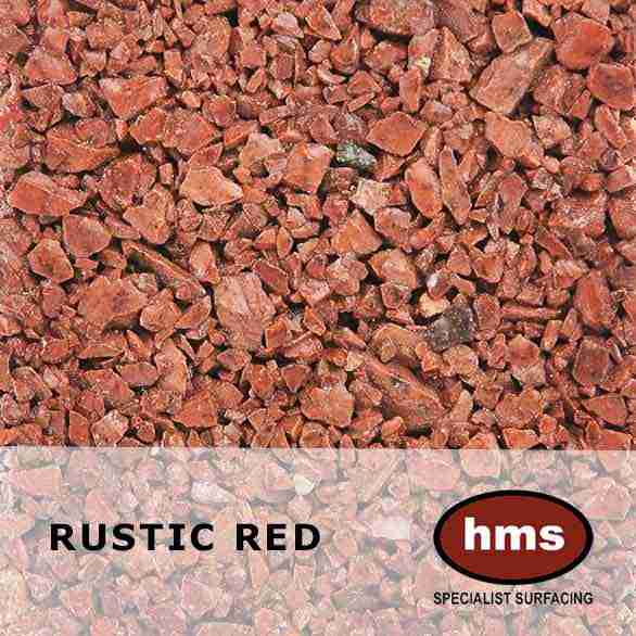 Rustic Red - Resin Bound Sample