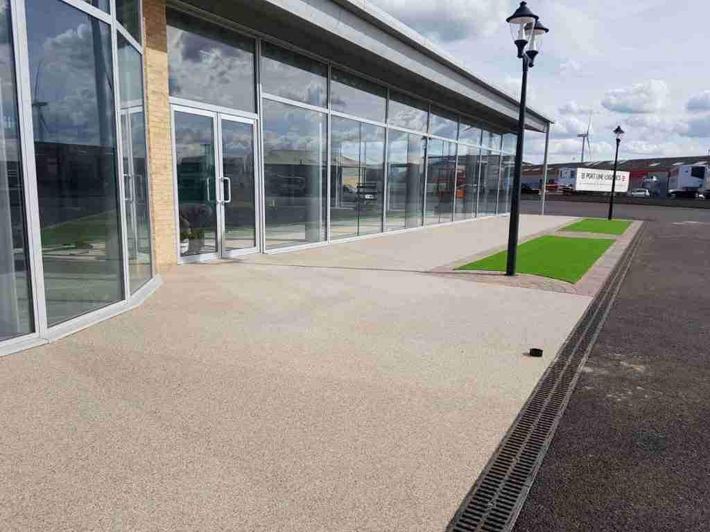 Resin Bound Surfacing - DecraSet - Car Showroom