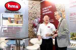 HMS Showroom Launch Simon with Lord Mayor of Lutterworth