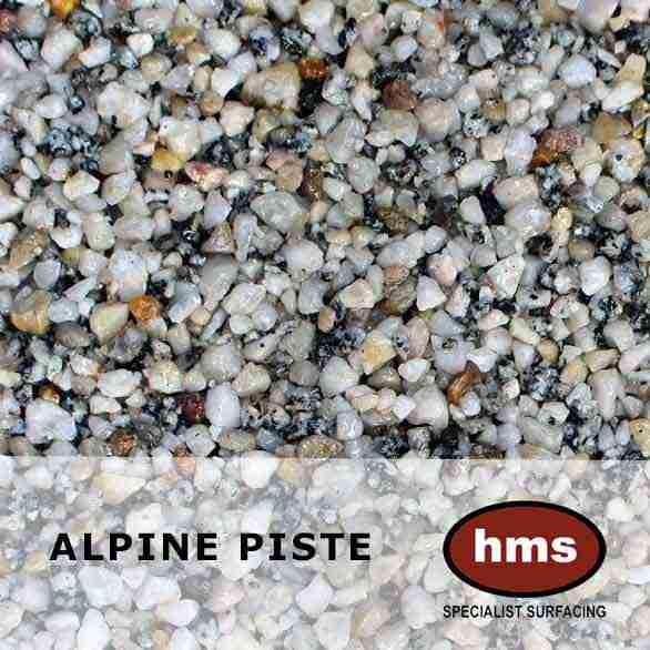 Alpine Piste Resin Bound Aggregate Sample