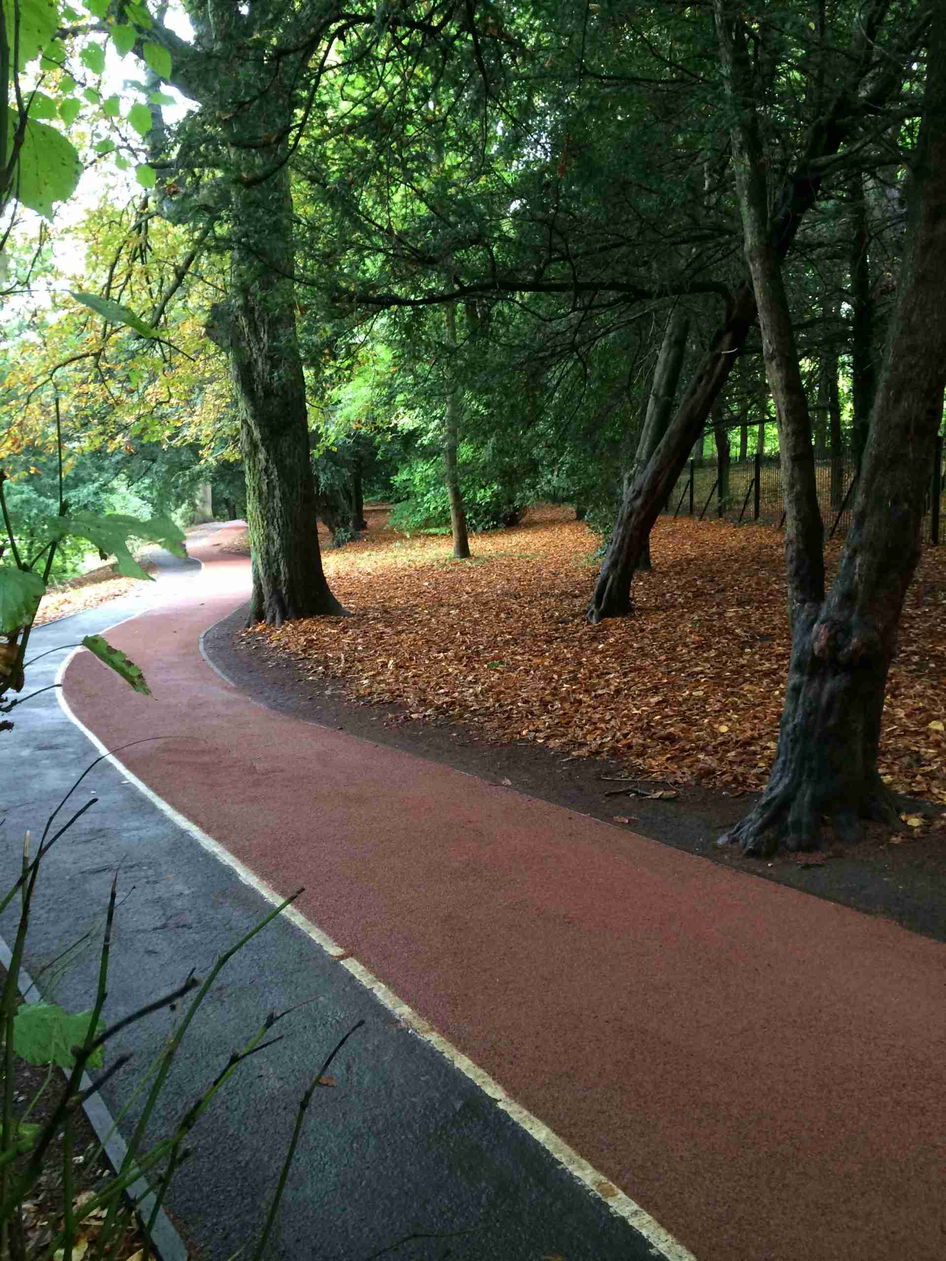 Coloured cycle path
