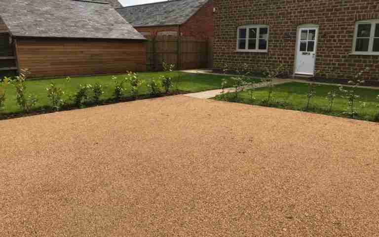 DecraStone Resin Bonded Surfacing System - New Housing Development, Medbourne